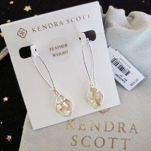Kendra Scott Ellington Bright Silver Drop Earrings